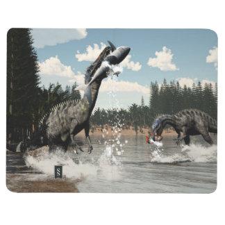 Suchomimus dinosaurs fishing fish and shark journal