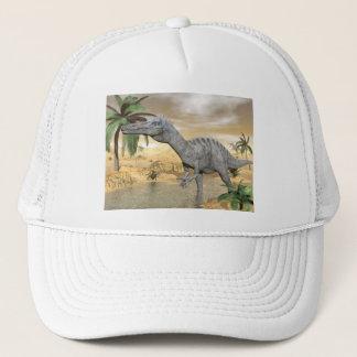 Suchomimus dinosaurs in desert - 3D render Trucker Hat