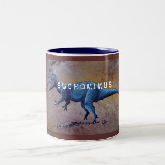 Suchomimus, S U C H O M I M U S Two-Tone Coffee Mug