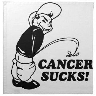 suck cancer design napkin