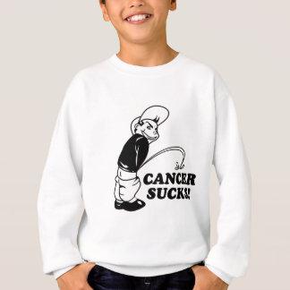 suck cancer design sweatshirt