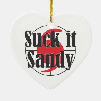 Suck it Sandy Hurricane Design Ceramic Ornament