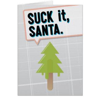 Suck It, Santa Card