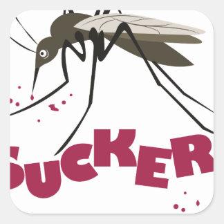 Sucker Square Sticker