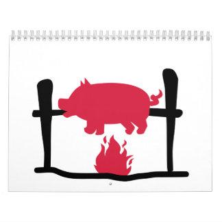 Suckling pig fire calendar