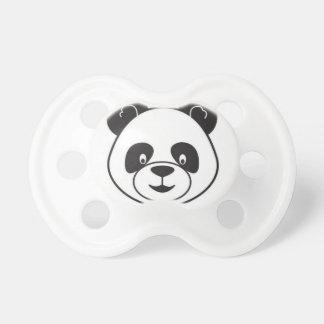 Sucks of black and white panda baby pacifiers