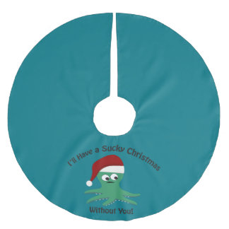Sucky Christmas Without You Brushed Polyester Tree Skirt