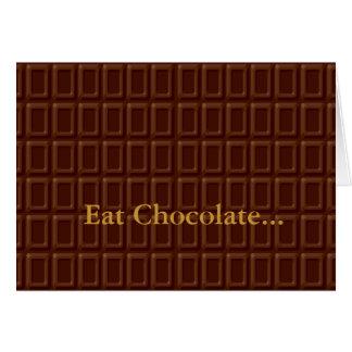 Sucrerie de barre de chocolat carte