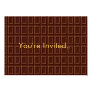 Sucrerie de barre de chocolat carton d'invitation  12,7 cm x 17,78 cm