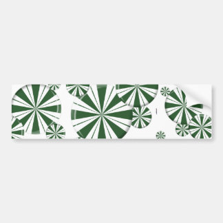 Sucrerie de rayure de menthe verte autocollant de voiture