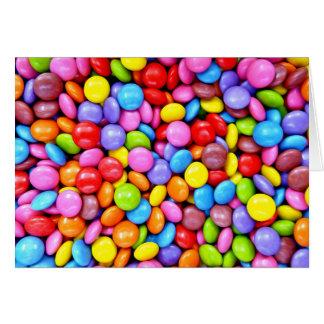 Sucreries colorées carte