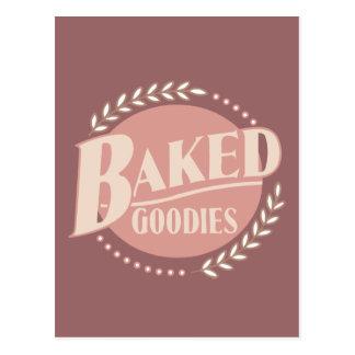 Sucreries cuites au four - boulangerie de cuisson carte postale