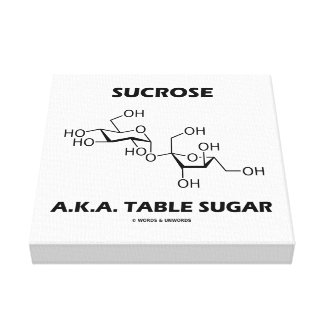 Sucrose Table Sugar Chemical Molecule Chemistry Canvas Print