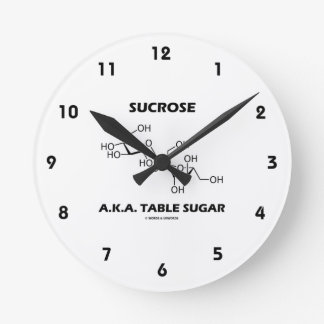 Sucrose Table Sugar Chemical Molecule Chemistry Clock