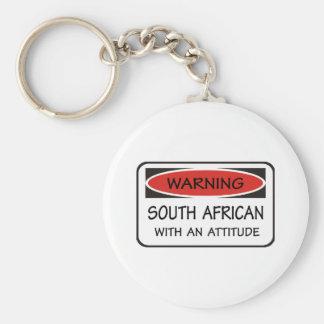 Sud-africain avec une attitude porte-clé rond