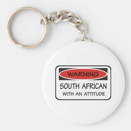 Sud-africain avec une attitude porte-clefs