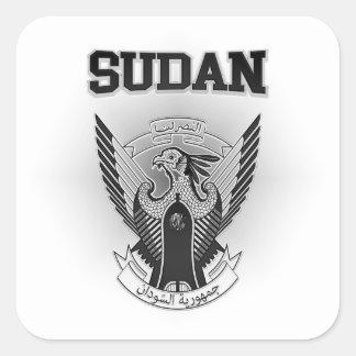 Sudan Coat of Arms Square Sticker