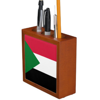 Sudan Flag Desk Organizer