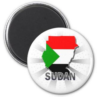 Sudan Flag Map 2.0 Magnet
