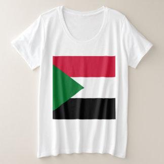 Sudan Flag Plus Size T-Shirt