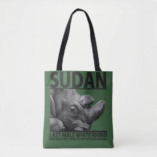 Sudan: Last Male White Rhino Tote Bag