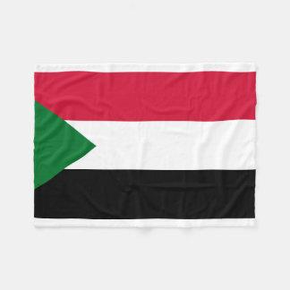 Sudan National World Flag Fleece Blanket