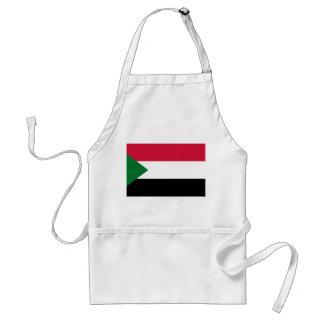 Sudan National World Flag Standard Apron