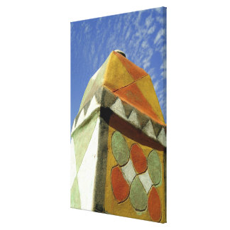 Sudan, North (Nubia), Decorated roof Gallery Wrap Canvas