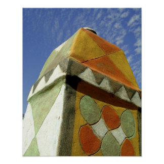 Sudan North Nubia Decorated roof Poster