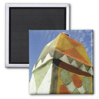 Sudan, North (Nubia), Decorated roof Square Magnet