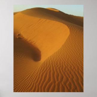 Sudan, North (Nubia), dunes in the desert Poster
