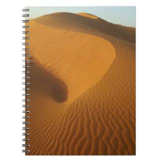 Sudan, North (Nubia), dunes in the desert Spiral Notebooks