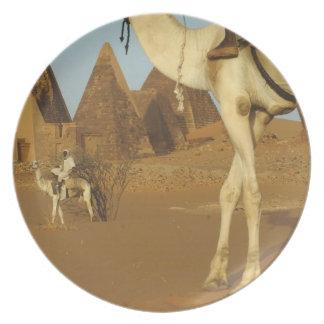Sudan, North (Nubia), Meroe pyramids with Dinner Plate
