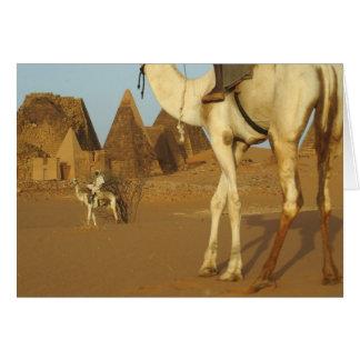 Sudan, North (Nubia), Meroe pyramids with Greeting Card