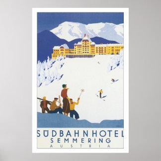 Sudbahn Hotel Semmering Vintage Travel Poster