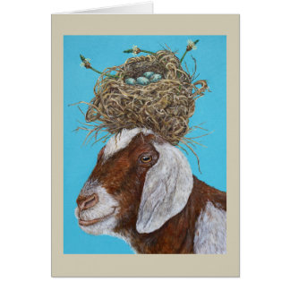 Sudie the goat card
