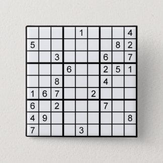 sudoku 2 inch square button