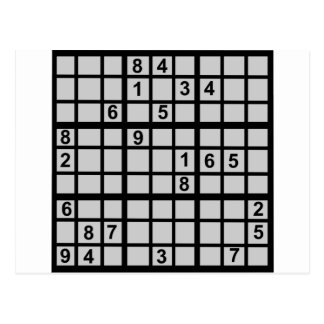 Sudoku - Brainteaser Postcard