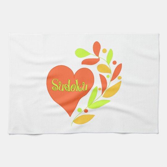 Sudoku Heart Kitchen Towel