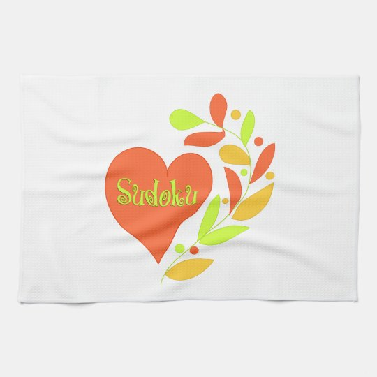 Sudoku Heart Towels