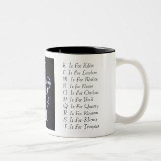 Sue_Grafton_Black, A  Is For AlibiB  Is For Bur... Two-Tone Coffee Mug
