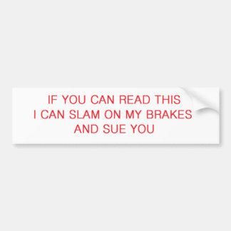 sue you bumper sticker