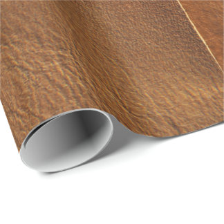 Suede Mix Faux Leather Wrapping Paper