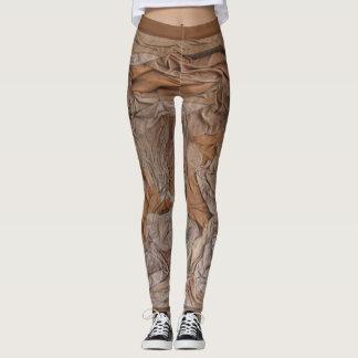 Suede sculptured leggings