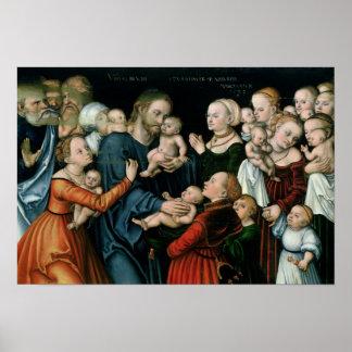 Suffer the Little Children to Come Unto Me, 1538 Poster