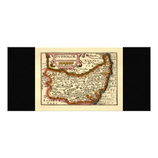 """Suffolck"" Suffolk County Map Rack Card Template"
