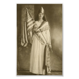 suffrage liberity lady poster