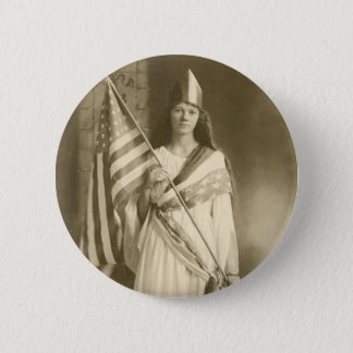 suffrage liberty lady button