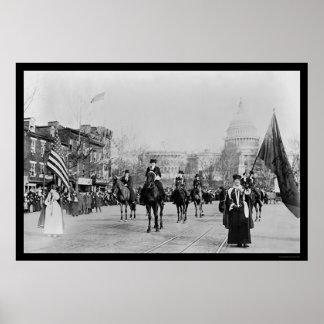 Suffrage Parade Washington, DC 1913 Poster