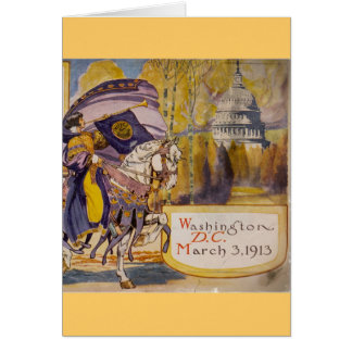 Suffrage Procession 1913 Card